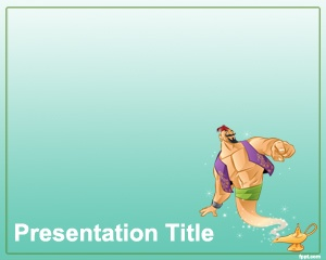 Genie PowerPoint Template is a free template with genie image that you can download for presentations about genies