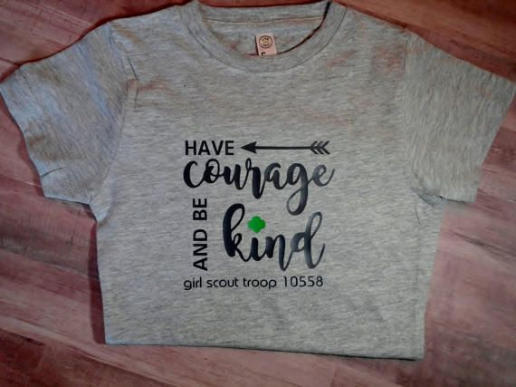 Girl Scout Troop Have Courage RESERVED by DivaDesignsShop on Etsy