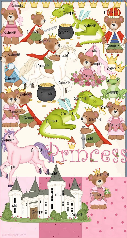 Craft Clipart 46: Princess bears