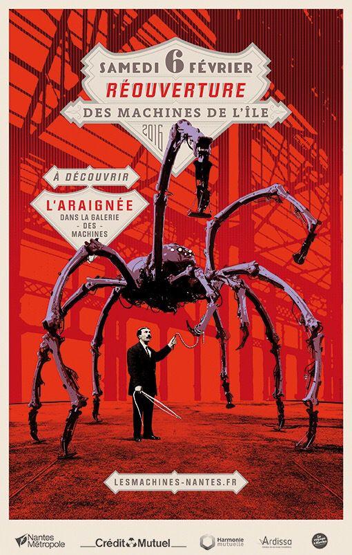 Une araignée aux Machines  re-ouverture le 6 février 2016