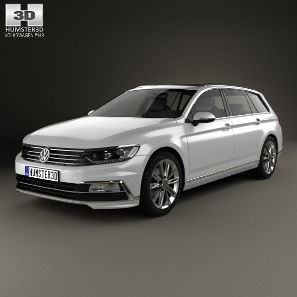 Volkswagen Passat B8 R Line 2015 Fully Editable And Reusable 3d