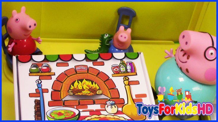 Peppa Pig, George y la Pizza Gigante de Papa Pig Videos de peppa pig - T...