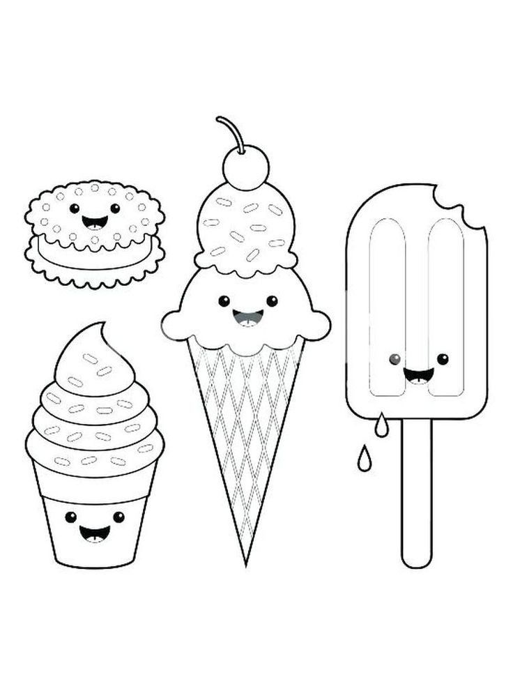 3 Scoop Ice Cream Coloring Page Check More At Https Www