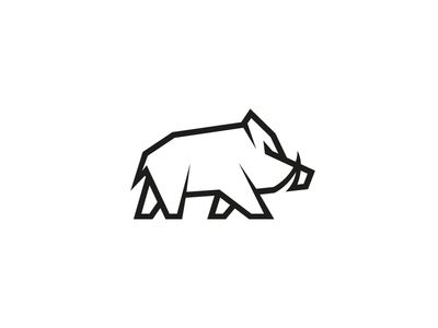 Wild Boar by Max Pirsky. One of the suggestions for a new brand symbol. We decided to go with something simpler, but I still really like this stylisation.