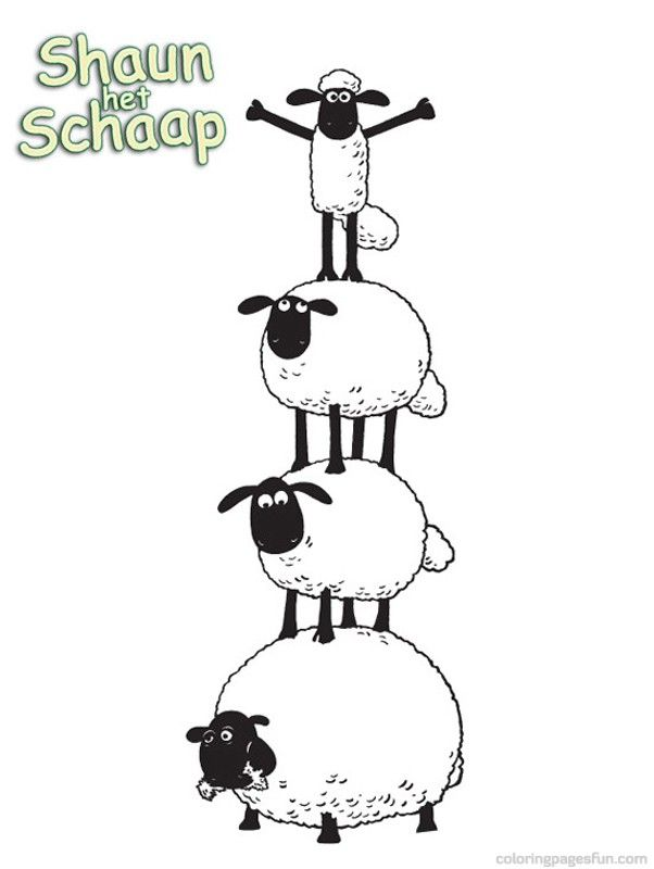 Shaun the Sheep Coloring Pages 3