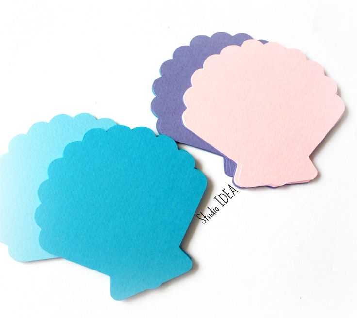 "Mixed Blue, Pink, Lavender Sea Shell 2"", 4"" or 5"" Sea Theme Confetti, Cut outs…"