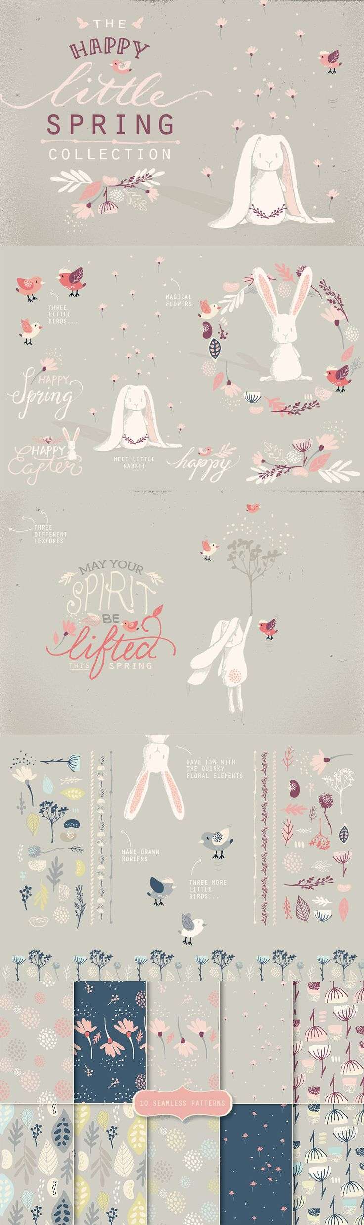 The Happy Little Spring Collection by Lisa Glanz | The Comprehensive, Creative Vectors Bundle Mar 2015 from Design Cuts