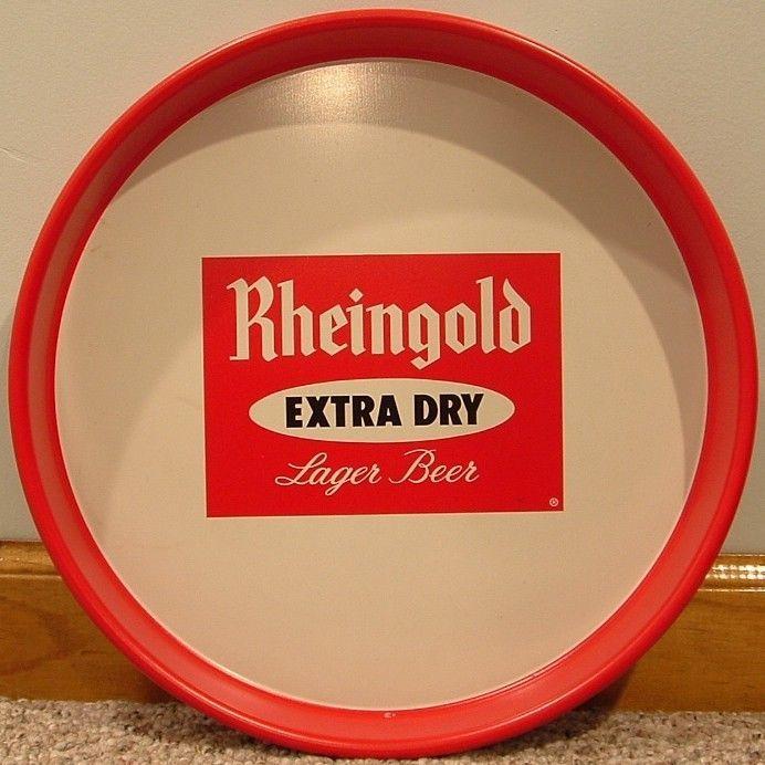 Rheingold Extra Dry Lager Beer Tray-Brooklyn, NY - Orange, NJ