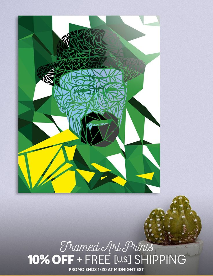 Discover «Breaking bad - Heisenberg», Limited Edition Aluminum Print by Omar Gonzalez - From 95€ - Curioos