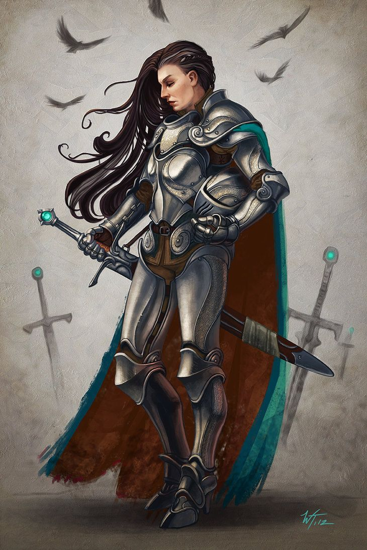 """Lady Severine"", Wes Talbott #armor #sword"