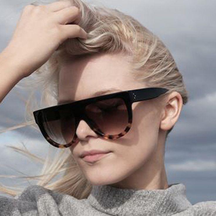 Steampunk Sunglasses Women Flat Top Cat Eye Sun glasses Oculos De Sol Retro Vintage Eyewear Acetate Shades Lunette De Soleil