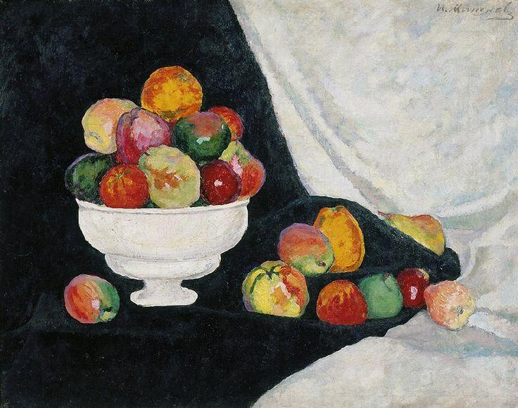 Aristarkh Lentulov — ilya-mashkov:   Still Life. Apples by Ilya Mashkov...