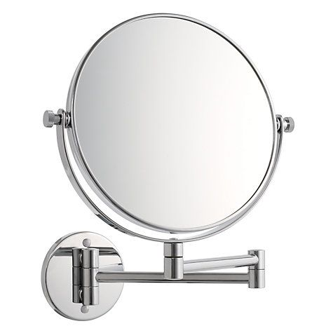 John Lewis Partners Chrome Extending Magnifying Mirror Magnifying Mirror Mirror Extendable Bathroom Mirrors