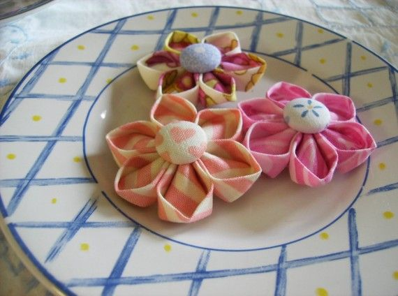 Kanzashi Fabric Flower
