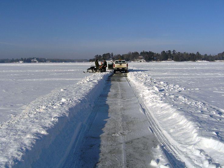 Rainy Lake Ice Road