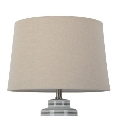 Large Natural Linen Mod Drum Lamp Shade, Slip Uno Drum Lamp Shades