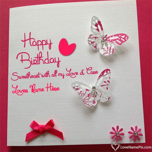 12 best Birthday Wishes Cards With Name images – Birthday Greating Cards