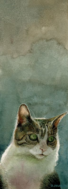 Watercolor: Stealthy Mischief (& a video clip about a John Singer Sargent painting) by Belinda del Pesco 08/2014
