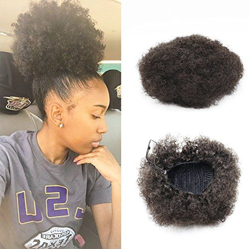 Synthetic Curly Hair Ponytail African American Short Afro Kinky Curly Wrap Synthetic Drawstring Puff Ponytail Hair Extensions Wig with Clips(#2)by VGTE Beauty:   <b>Brand Name:</b> VGTE Beauty<br> <b>Hair Type: </b>Drawstring Ponytails<br> <b>Hair Material:</b> Synthetic Hair<br> <b>Hair Texture:</b> Afro Kinky Curly<br> <b>Hair Color:</b> #2<br> <b>Hair Quantity:</b> 1 Piece<br><br> This hair piece looks so natural, everyone will think this is your own hair! <br>The VGTE Beauty Pony P...