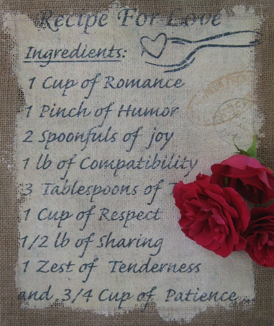 "...3 Tablespoons of ""Trust"" (can't read this line b/c the roses are in the way :)"
