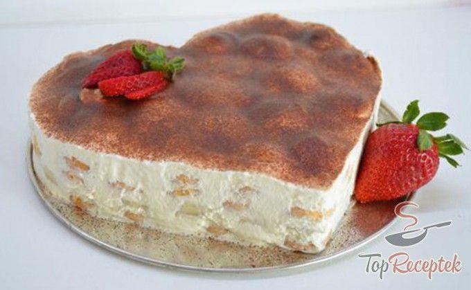 Banános babapiskóta-torta sütés nélkül | TopReceptek.hu