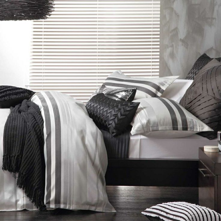Set the scene with moody tones in the Logan and Mason Platinum Flinders Quilt Cover Set. - Pillow Talk
