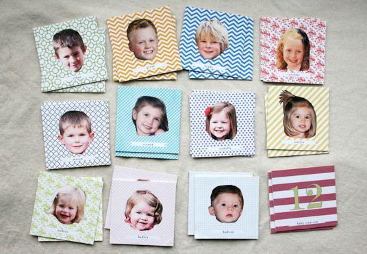 Memory met foto's van de kindjes uit je klas