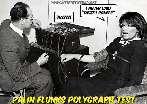 IWR Cartoon - Palin Fails Polygraph Test, Sarah Palin ...