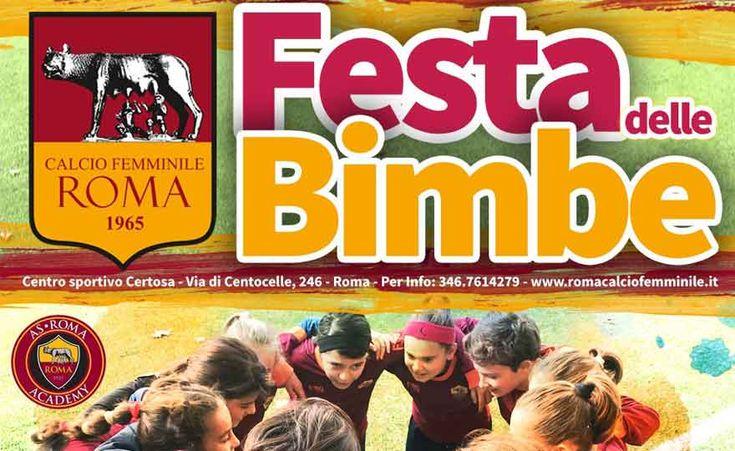 """Roma calcio femminile: il 3 marzo """"festa delle bimbe"""" con la mascotte Romolo"""