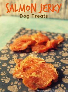 Salmon Jerky Dog Treats. So EASY to make and very healthy for your dog! #homemade #diy #dogs