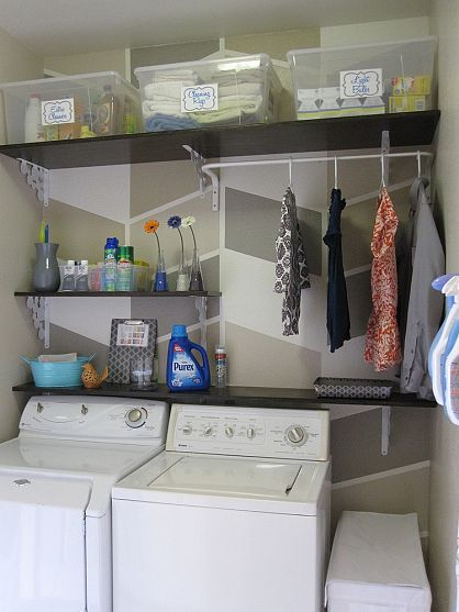 106 best organizing laundry room images on pinterest home ideas 124 laundry room overhaul pass through to garage custom diy shelves labels solutioingenieria Image collections