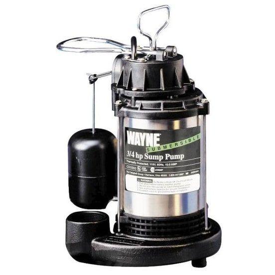 wayne cdu980e submersible sump pump 34 hp 120 v silver stainless