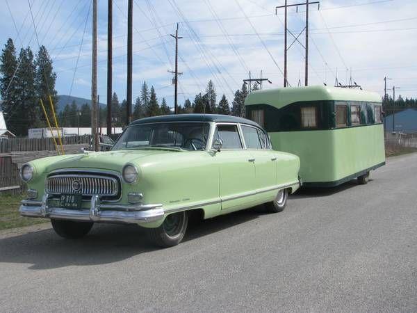 1954 Nash with 1939 camper trailer