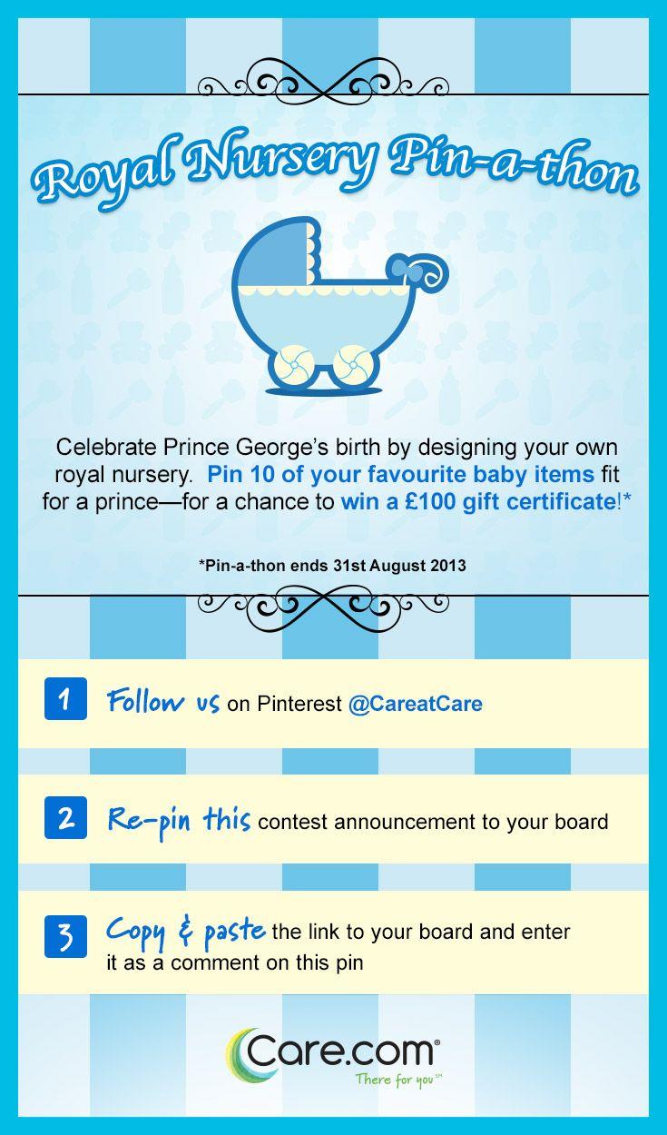 The Royal Nursery Pin-A-Thon! Join us. #Caredotcom #RoyalNursery
