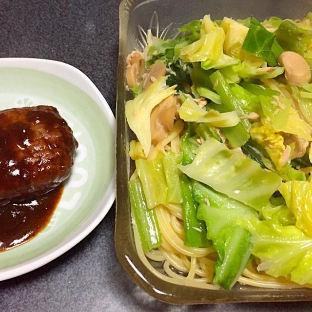 野菜の出汁が出てる #夕飯 - 5件のもぐもぐ - 野菜シーチキンスパゲッティ、チーズinハンバーグ by ms903