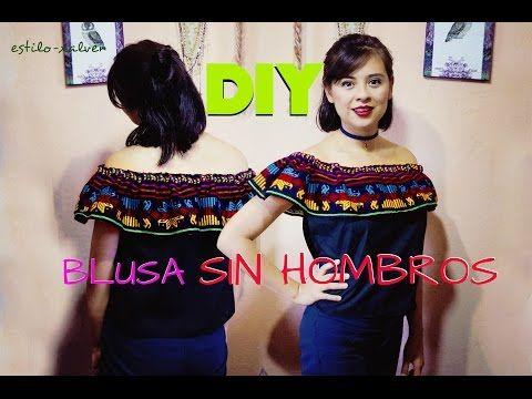 DIY Tutorial: Blusa sin hombros (patrones gratis) - YouTube