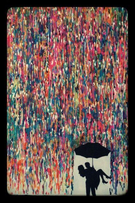 Make your love colourful. Xo #CrayonArt #CrayonDIY #WaxDIY #CrayonCanvas