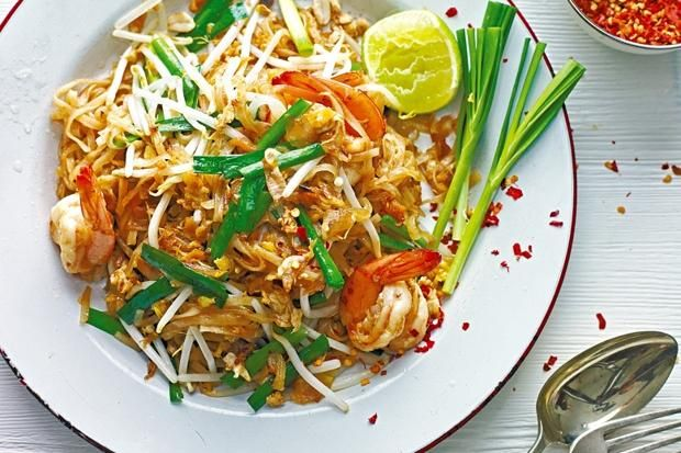 Pad Thai prawn.  An authentic recipe from Saiphin Moore, the co-founder of the London chain of Rosa's Thai Cafes
