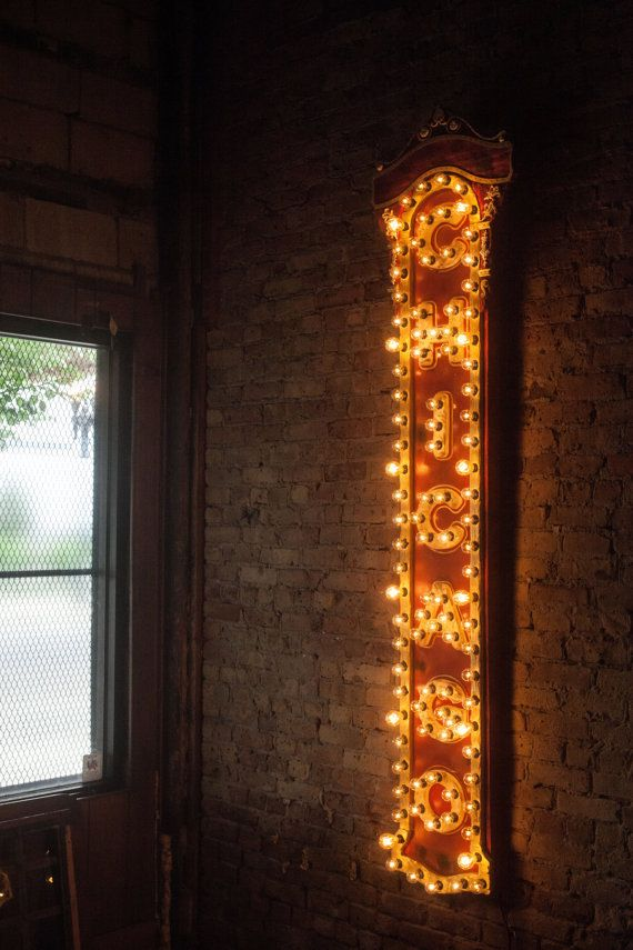 Handmade Chicago Theater Replica Light-up Sign made of ...