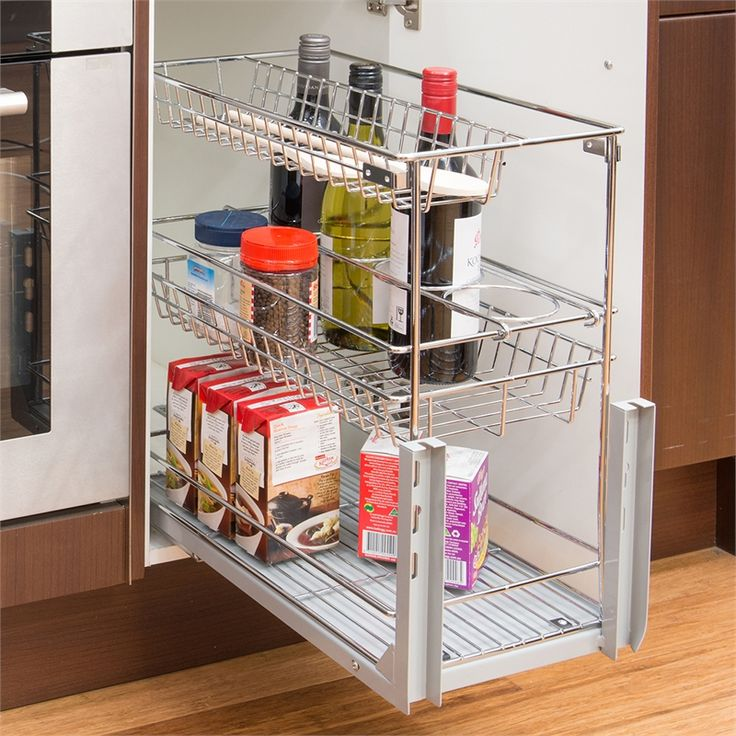 Zone Hardware 3 Tier Wire Basket Slide Out Unit