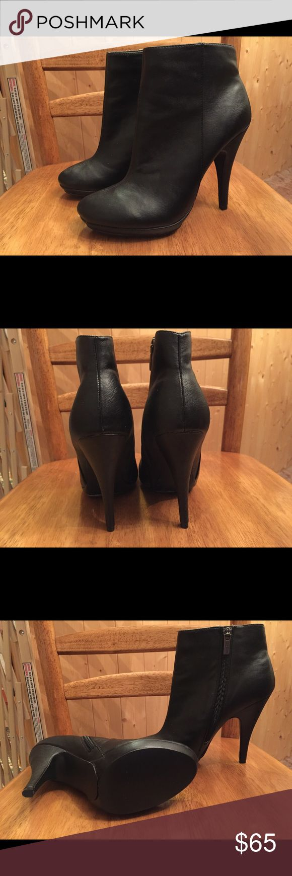 Colin Stuart booties Leather booties size 8 never worn. No stains,marks or odors. Reasonable offers. No trades. Shoes Ankle Boots & Booties
