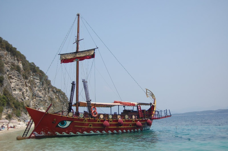 Pirate boat off Lefkas