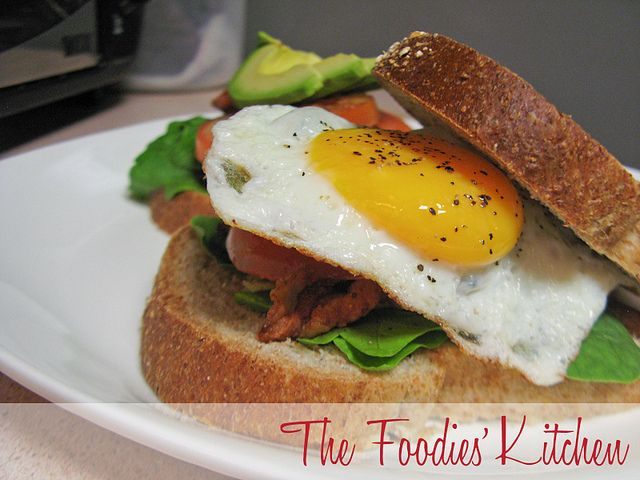 BLT with Fried Egg by The Foodies' Kitchen, via Flickr
