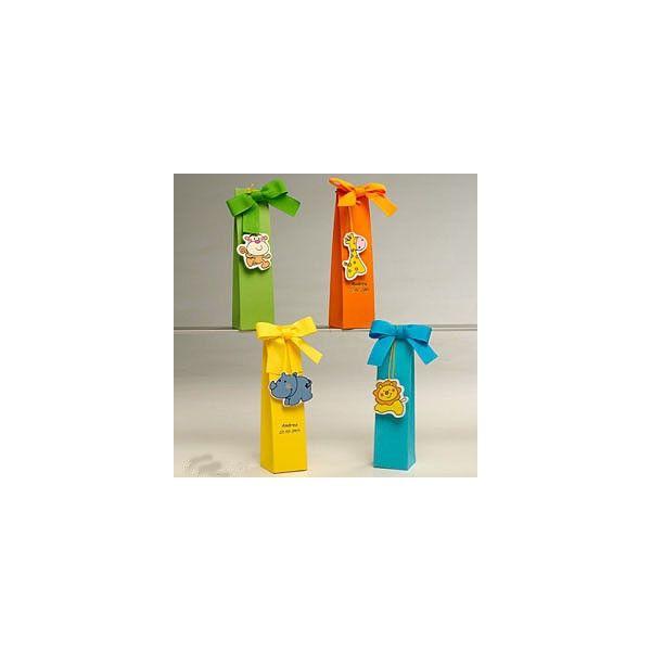Ideale per la festa di compleanno del tuo bambino.    Calamita animali assortiti con inclusa scatola e 3 confetti al cioccolato com ein  foto       Ordine minimo 4 pz