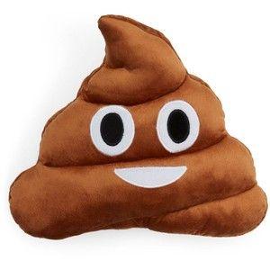 """Throwboy Poop Emoji Decorative Pillow, 14"""" x 13"""""""