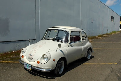 Old Parked Cars.: 1967 Subaru 360 Deluxe.