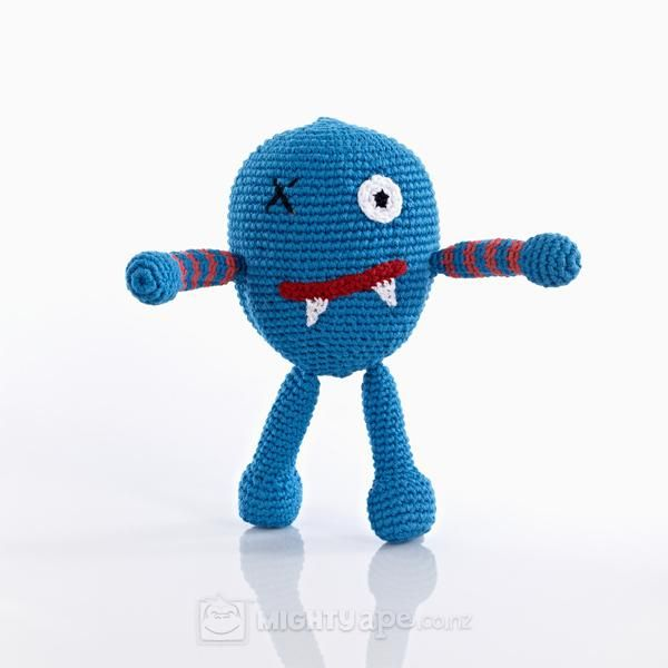Pebble Chubby Monster – Scary Blue