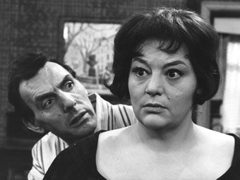 Comedian Eric Sykes and actress Hattie Jacques in 'Sykes'.