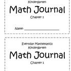 This is a math journal that goes along with the main activities in the Everyday Math Kindergarten Curriculum. I developed this journal so that I co...