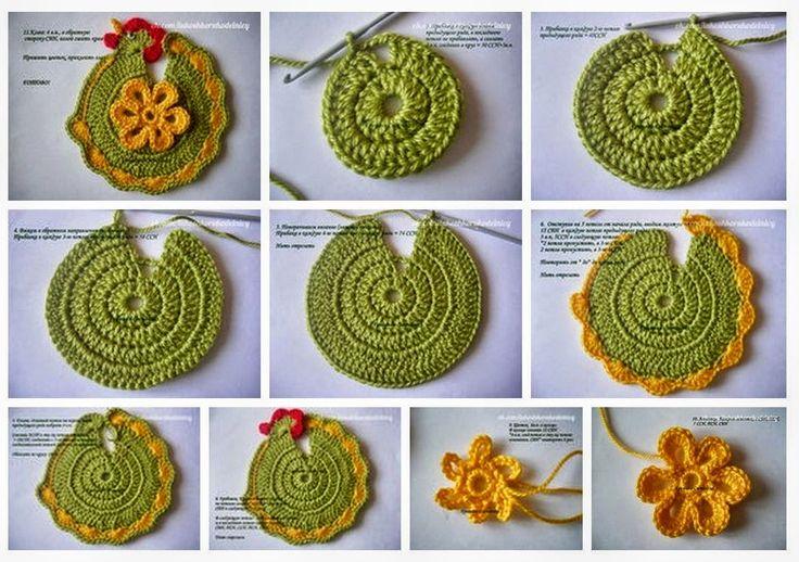 "Paso a paso Agarradera ""Gallinita"" tejida al Crochet   Todo crochet"